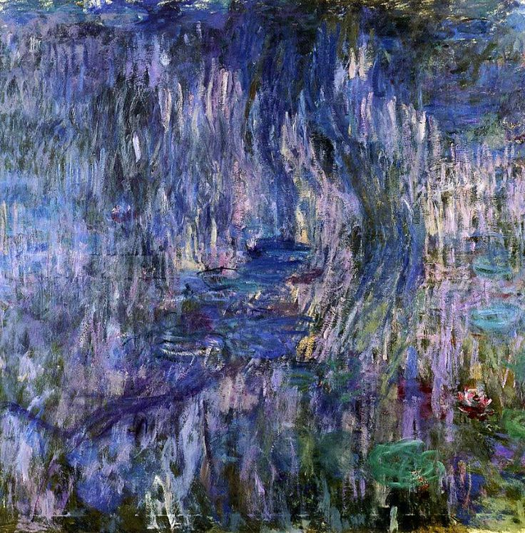 Claude Monet. Water Lilies - Reflection of a Weeping Willows (1919).