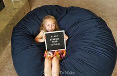Giant Bean Bag Chair Tutorial | So Much To Make