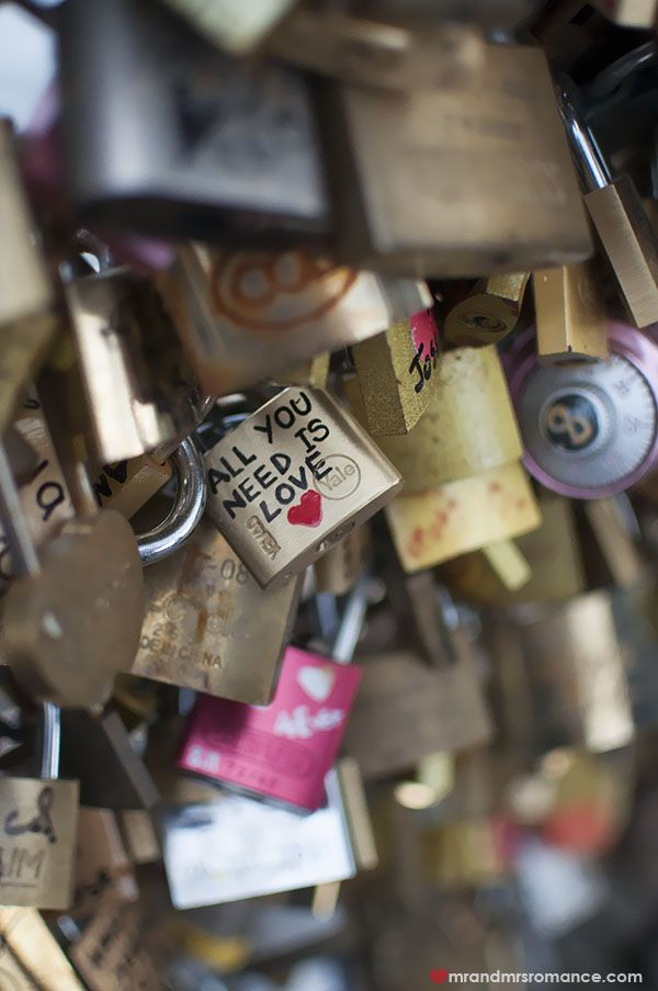 He Said, She Said: locks of love, Paris - the Pont des Arts