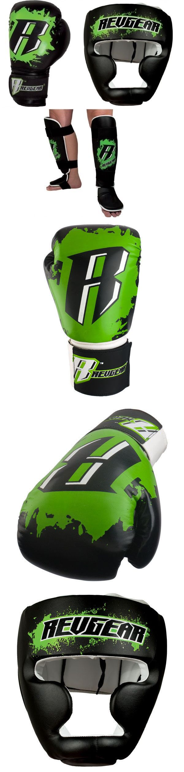 Other Combat Sport Protection 179783: Revgear Youth Boxing Mma Sparring Gear Set - Green BUY IT NOW ONLY: $99.95