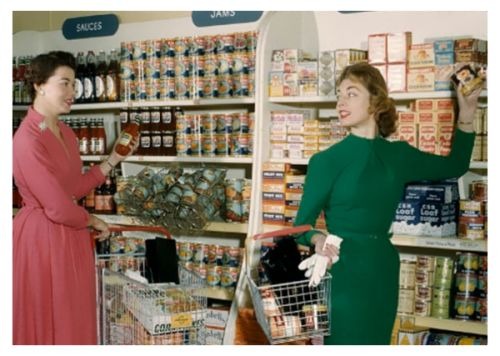 At the Supermarket, 1950s.