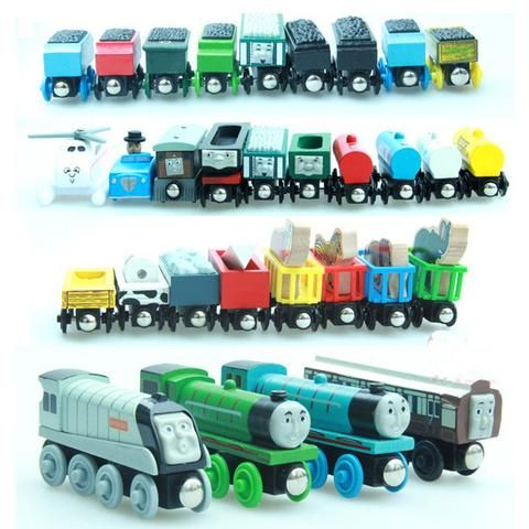 10PCS/LOT New Thomas and His Friends Wooden Railway Trains