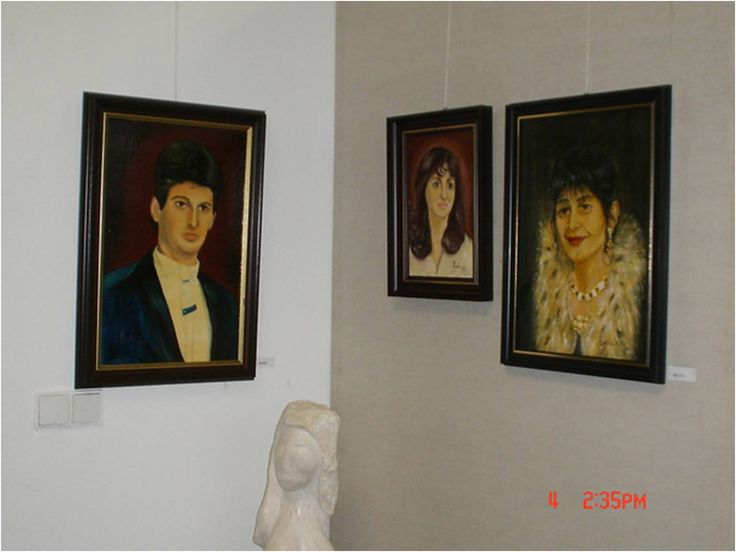 ...in the gallery - My exhibition of paintings