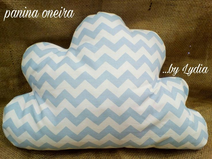 Handmade decorative pillow chevron. Paninaoneira.gr by Lydia
