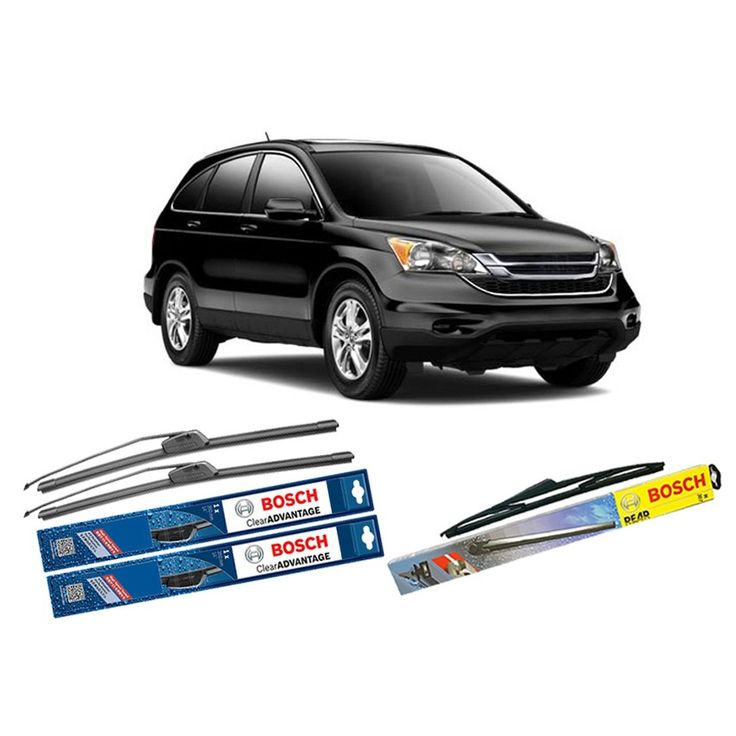 """Bosch Wiper Depan Frameless Clear Advantage & Belakang u/ Mobil Honda Honda CRV 3rd 26"""" & 17"""" + H306 - 3 Pcs/Set  Frameless Umur Pakai & Daya Tahan Lebih Lama Penyapuan kaca yang senyap Performa Sapuan Optimal Instalasi Mudah & Cepat Original Produk Bosch  http://klikonderdil.com/frame-less/1231-bosch-wiper-depan-frameless-clear-advantage-belakang-u-mobil-honda-honda-crv-3rd-26-17-h306-3-pcsset.html  #bosch #wiper #jualwiper #frameless #hondacrv"""