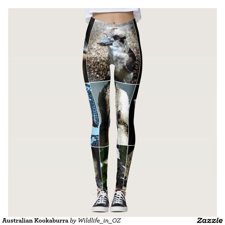 Kookaburra Leggings, Aussie Wildlife Leggings. Click on photo to view item then click on item to see how to purchase that item. #leggings #activewear #rosella #easternrosella #koala #koalabear #wildlife #australianwildlife #zazzle #lorikeet #rainbowlorikeet #indianringneck #cockatoo #sulphurcrestedcockatoo #kingparrot #kookaburra