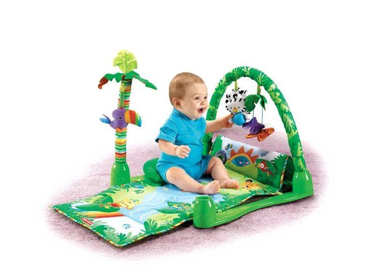 Tapete de atividades rainforest da fisher price. Alugar é mais barato e você recebe na sua casa. Brinquedo e brincadeira.