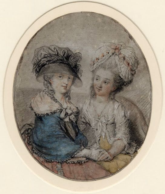 Ann Darlow Smith and Mrs. Prothero, by John Raphael Smith. British Museum,1876-0708-6