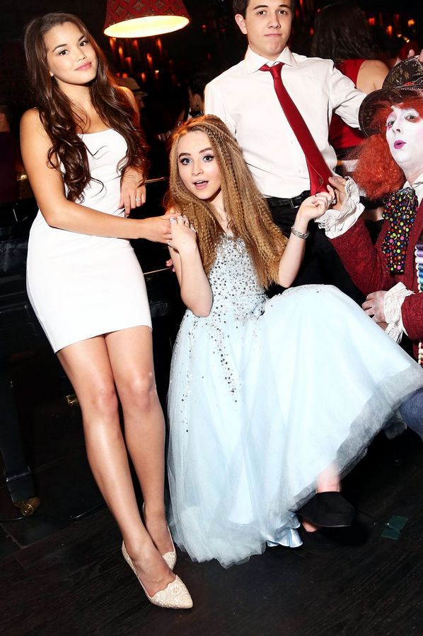 Paris Berelc, Sabrina Carpenter and Bradley Steven Perry