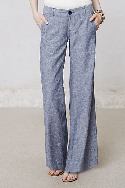 Pilcro Linen Wide-Legs #anthropologie The BEST! And I don't need to hem them…