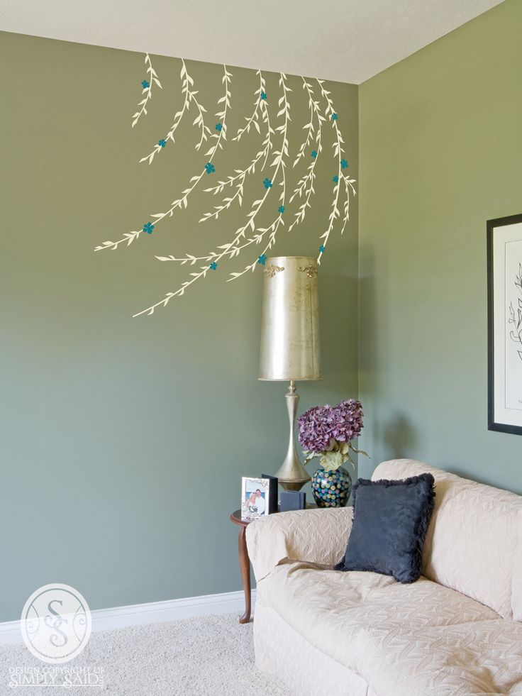 Beautiful willow branch wall decal from Simply Said Designs.  http://www.mysimplysaiddesigns.com/2184/