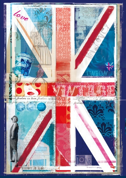Union Jack: Houses Paintings Like A Flags, Montages Prints, Jack Montages, My Rooms, Vintage Looks, Vintage Prints, Union Jacks, Jack O'Connell, Unionjack Portraits A3 Rgb Jpg