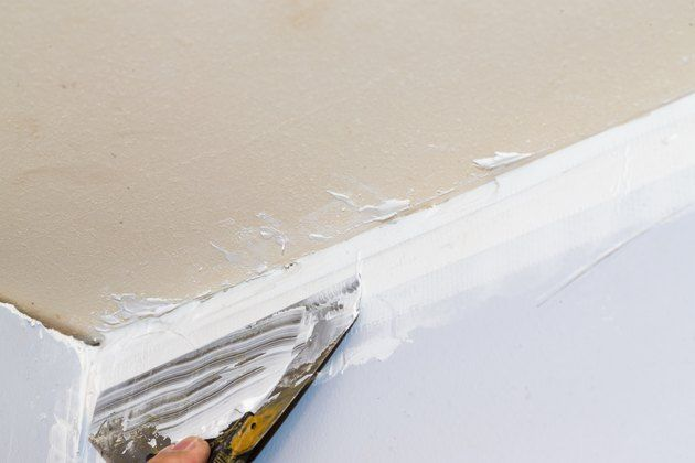 How To Fill A Gap Between The Wall The Ceiling Hunker Drywall Repair Ceiling Ceiling Trim Repair Ceilings