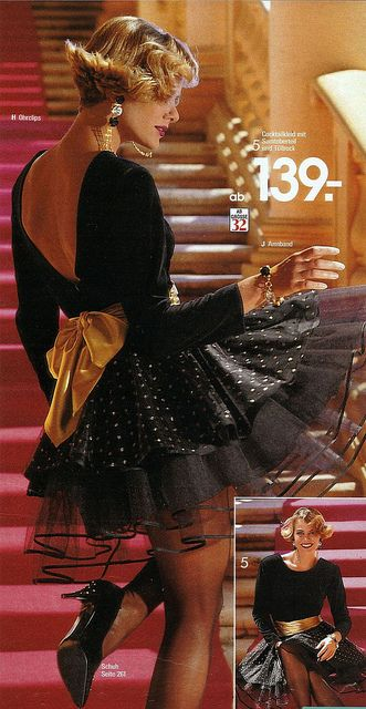 80s fashion...I had a dress like that in the late 80's and I wore it to a Christmas party...