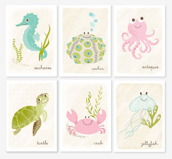I purchased a few of these pastel prints to hang up in my daughter's room. Love…