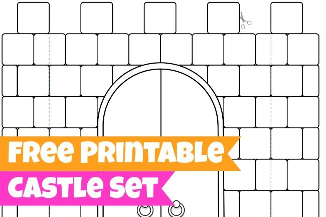 LOVE THESE! These FREE coloring pages can be folded into a kingdom for play! - Free Printables for Kids - Castle, King and Queen