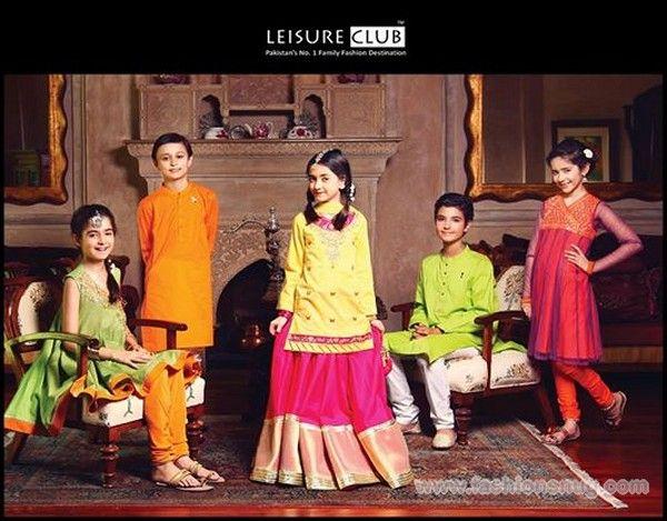 Leisure Club Eid-Ul-Fitr Dresses 2014 For Kids