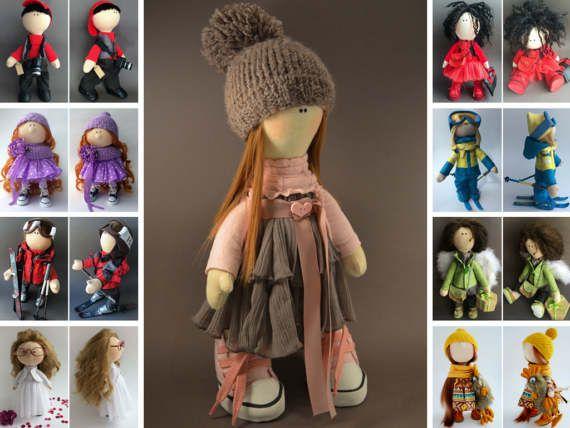 Bambole Puppen Rag doll Handmade doll Tilda doll Interior doll Muñecas Soft doll Textile doll Art doll Grey doll Fabric doll by Oksana K