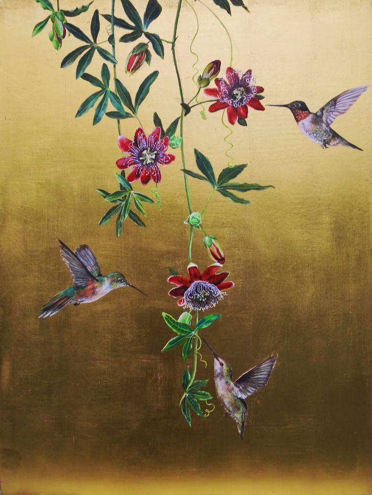 Ruth Winding: Hummingbirds (finished)