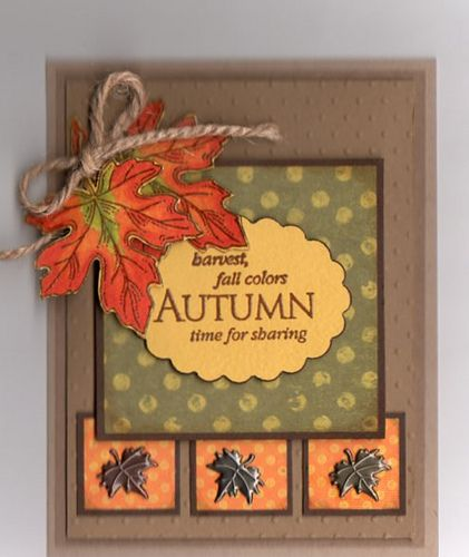 25 best ideas about Autumn cards on