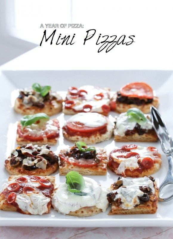 Looking for an easy yes delicious and adorable snack or appetizer? Try these fabulous Mini Pizzas! Get the recipe:  http://www.bhg.com/blogs/delish-dish/2014/04/30/a-year-of-yeast-mini-pizzas/