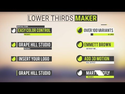 Lower Thirds Maker | After Effects template