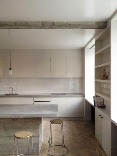 Poured Concrete Kitchen