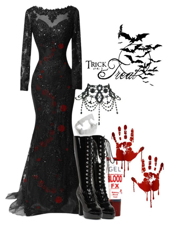 """Vampire Costume"" by potterhead42 ❤ liked on Polyvore"