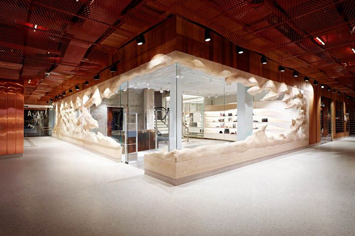 YME store by Snøhetta, Oslo   Norway fashion cafe bookstore