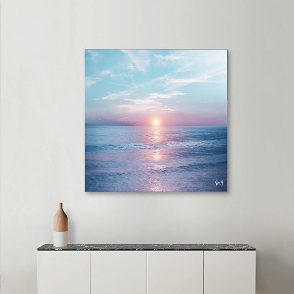 Discover «Pastel vibes 13», Numbered Edition Aluminum Print by Viviana Gonzalez…