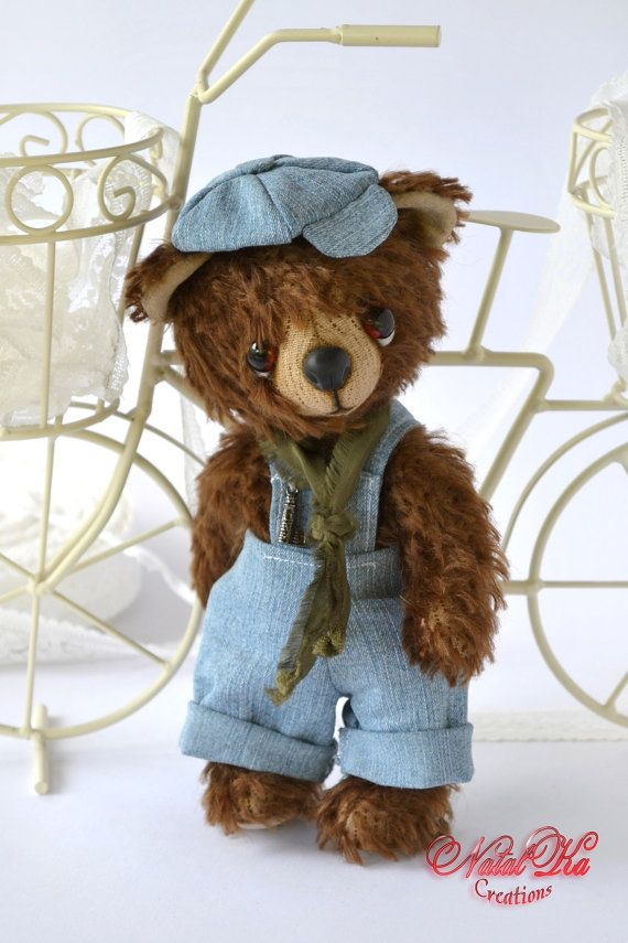 Bear Jean  artist teddy bear tedy bear ooak by NatalKaCreations