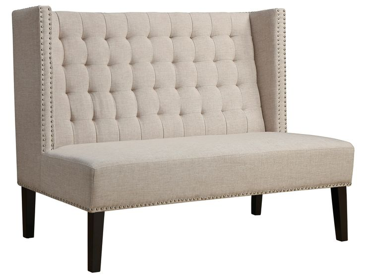 A popular style of seating in restaurants and lounges, the versatile banquette can be utilized as a high-backed long dining bench, or can fit comfortably in a hall or entryway. Our beautiful Halifax B