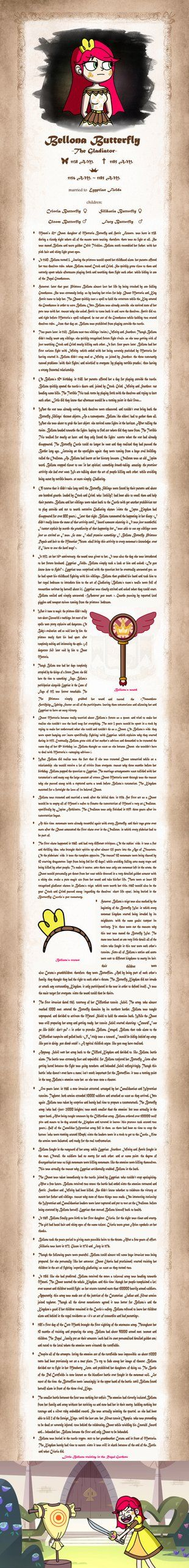 Bellona The Gladiator's Biography by Shyhobbistdrawer31
