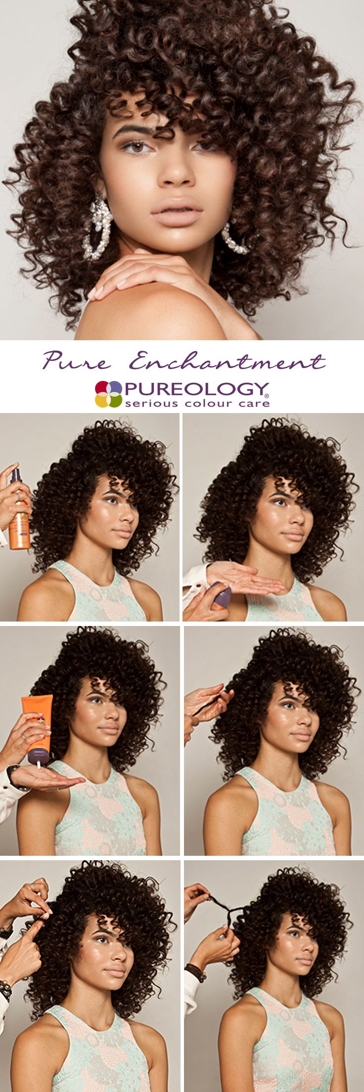 Curly hairstyles tutorials - Natural Curly Hair Tutorial By Pureology Using New Curl Complete