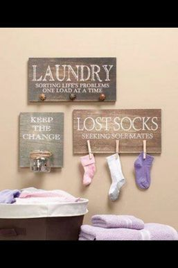Clothespin Decal Laundry decor vinyl wall art by...