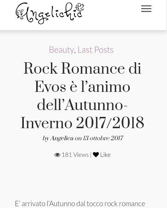 #bloggernews by @angelichic #Rockromance di Evos è l'animo dell'Autunno-Inverno 2017/2018   http://www.angelichic.com/rock-romance-di-evos-e-lanimo-dellautunno-inverno-20172018/