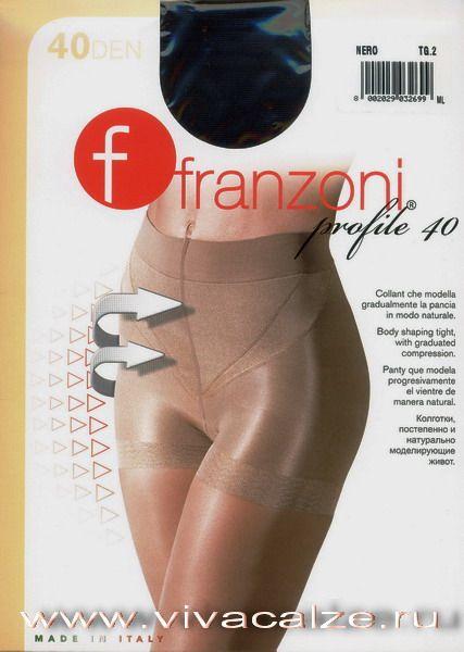 PROFILE 40 Корректирующие колготки с треугольными вставками, постепенно утягивающими живот, придавая изящность фигуре.