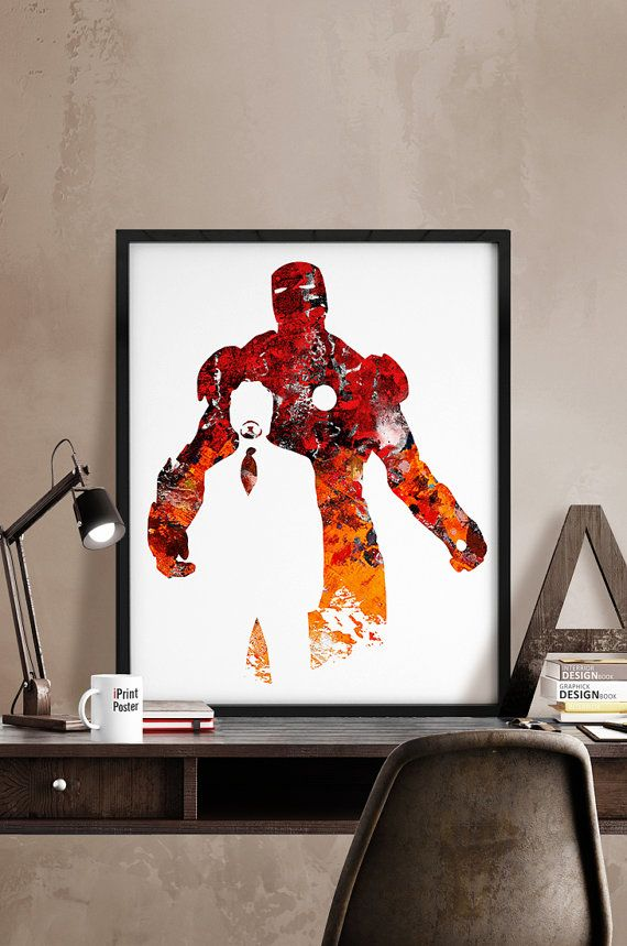 Iron Man, Print, Avengers print, Superhero poster, Marvel, Art, Heroes Illustrations, Abstract, Wall, Artwork, Comic print, Gift, Home Decor.