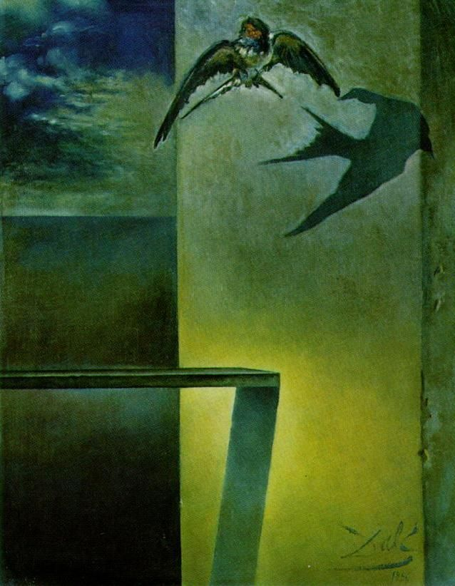 The Motionless Swallow. Study for 'Still Life - Fast Moving' - Dali Salvador
