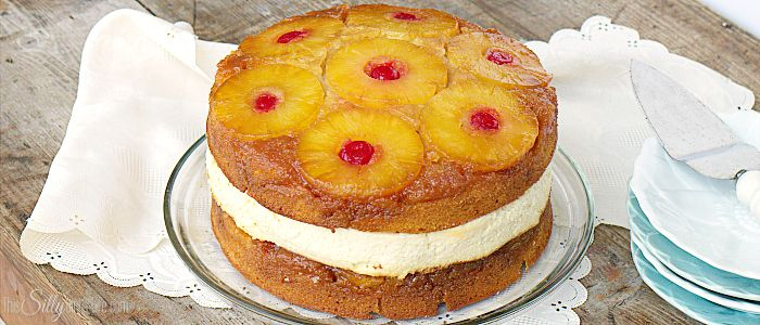 Copycat Cheesecake Factory Pineapple Upside-Down Cheesecake, two layers of buttery pineapple upside-down cake stuffed with pineapple cheesecake, just like the restaurant… but homemade! Oooooh boy… you know we love our cheesecakes. I have posted many a cheesecake recipe. But, normally it's all about what Jeremy likes *eye roll* …. but yesterday it was my birthday …