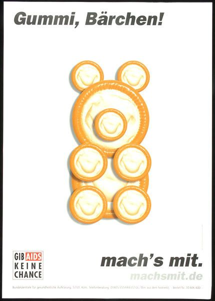 Rubber, Bears | 31 Years Of HIV And AIDS Awareness Posters