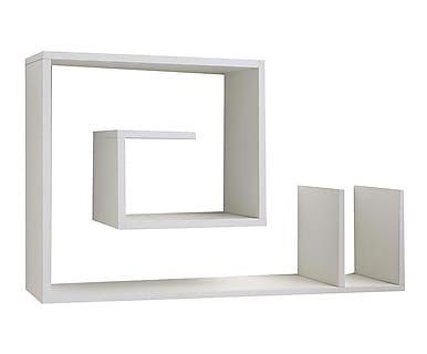 """Półka ścienna """"Snail White"""", 24 x 90 x 56 cm"""