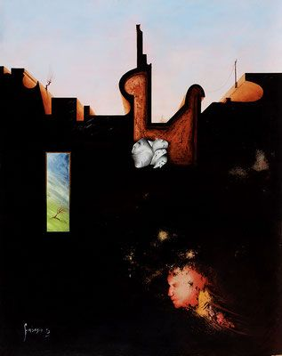 Pittura Surreale olio su tela e tavola - Benvenuti su artegambasin.org
