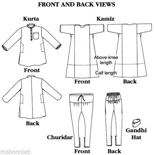 Folkwear-Jewels-of-India-Kurta-Kamiz-Tunic-Pants-Gandhi-Hat-Sewing-Pattern-135