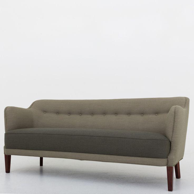 Reupholstered 3 seater sofa