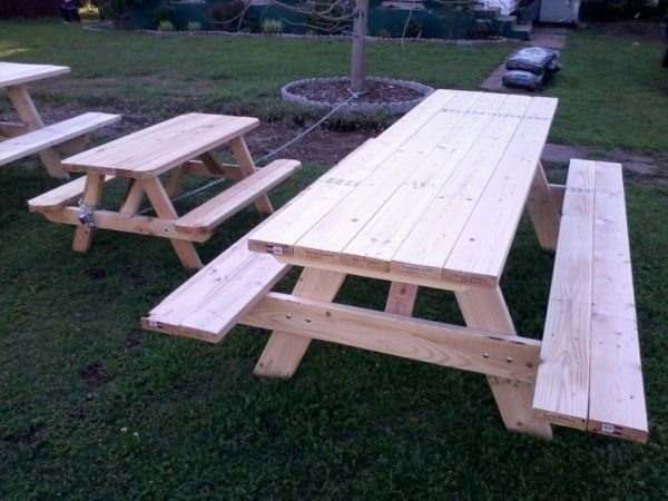 Picnic table plans free 8ft woodworking projects plans for 8 picnic table plans