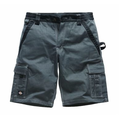 The Dickies Burmuda Industry 300 Two Tone Work Shorts are popular with labourers working on exposed construction sites during summer months. These shorts feature triple-stitch detailing for long-lasting reliability, plus two side pockets, a pair of back pockets, and a pair of cargo pockets.