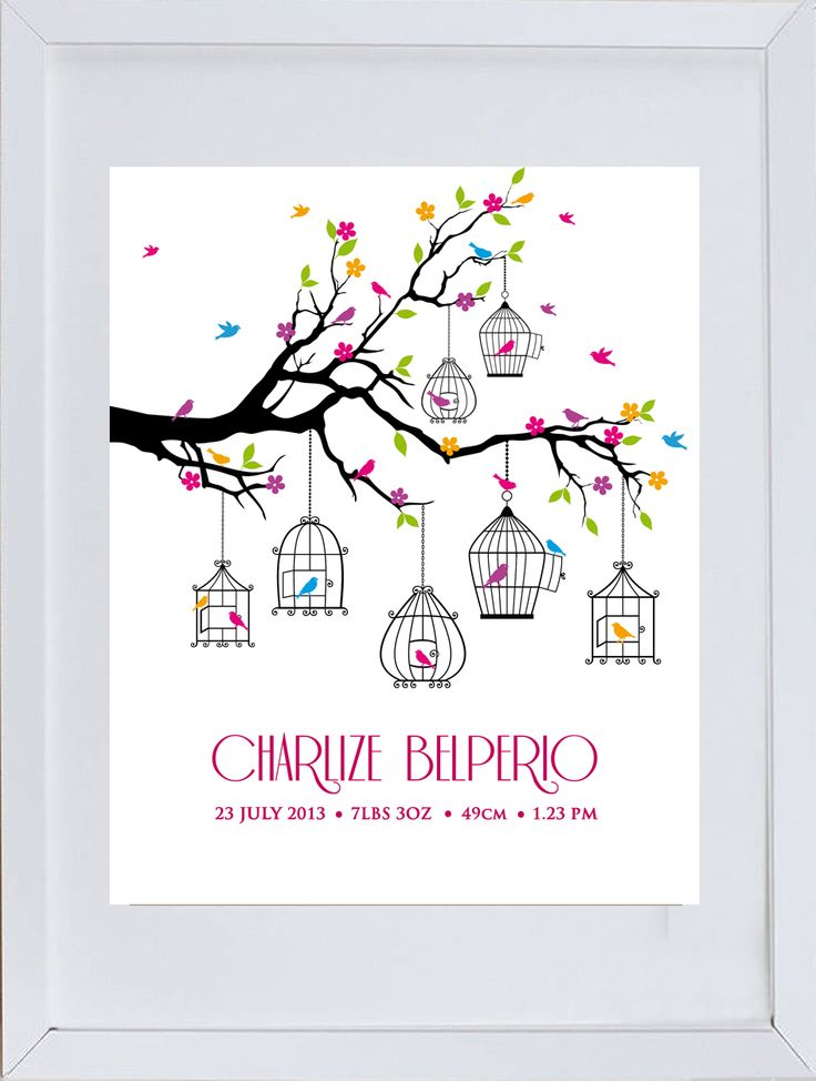 Gorgeous personalised Baby Joy prints available in more than 60 designs and with a white or black frame.  Order at www.kikiandpoppi.com.au