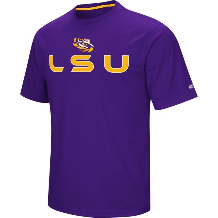 Colosseum Athletics Men's LSU Tigers Purple Pique Performance T-Shirt, Size: Medium