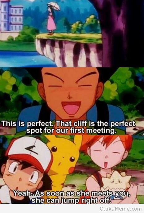 LOL, Misty always had something snarkie to say when it comes to Brock and his female obsession #Pokemon